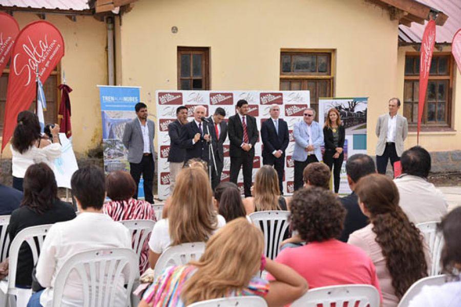El acto por el aniversario del Ramal C-14se realizó en la estación de trenes de Campo Quijano.