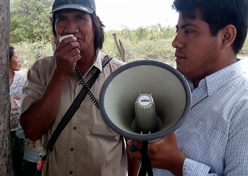 """El cacique Timoteo Ñato, de Las Vertientes reiteró sus pedidos de auxilio """"mi gente tiene hambre"""", dijo."""