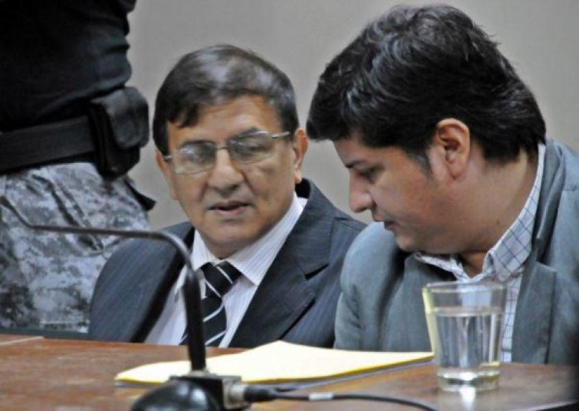 El imputado Raúl Reynoso en las audiencias del juicio junto a su abogado Federico Magno.