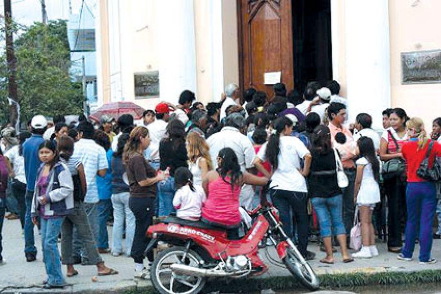 La sede del Banco Nación en Tartagal.