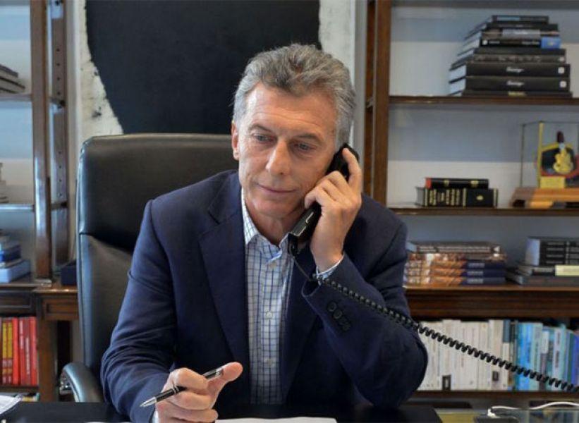 Mauricio Macri, presidente de los argentinos, buscando respaldos internacionales.
