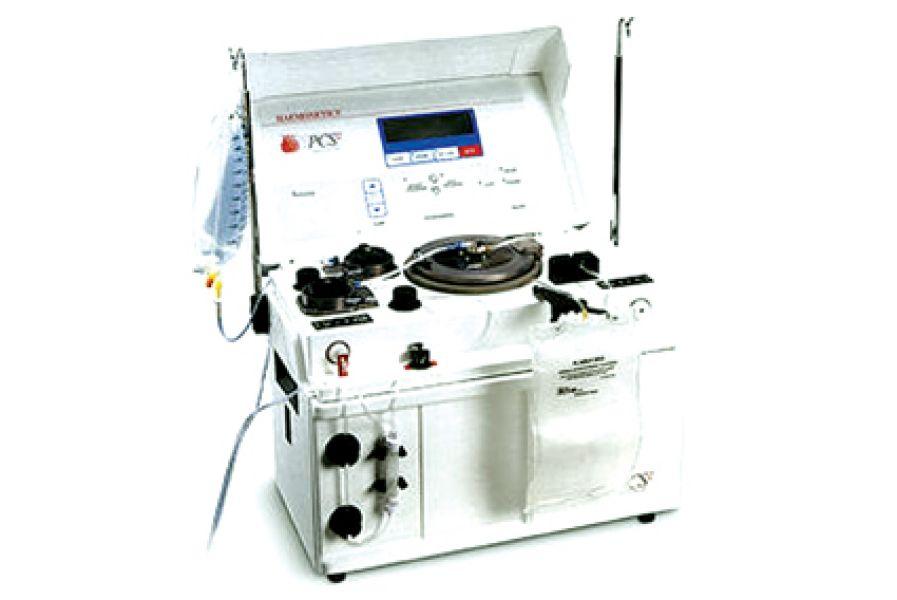 La nueva máquina de extracción de sangre separa los componentes de la sangre: glóbulos rojos, glóbulos blancos y plaquetas.