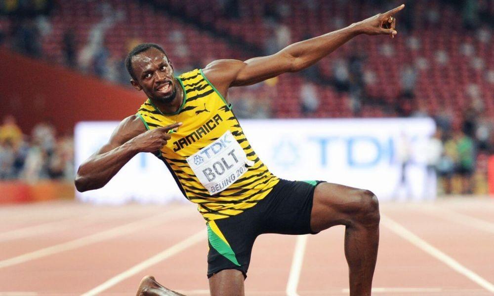 Usain Bolt, un hincha de lujo de Argentina.