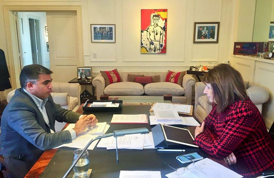 El diputado Nanni y la ministra Bullrich.