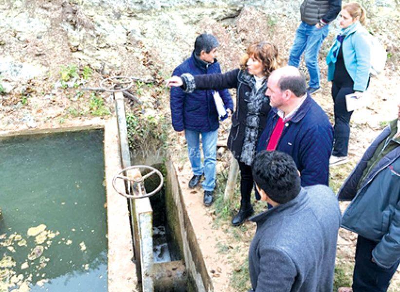 Autoridades judiciales en la primera inspección ocular a planta potabilizadoras de Aguas del Norte.