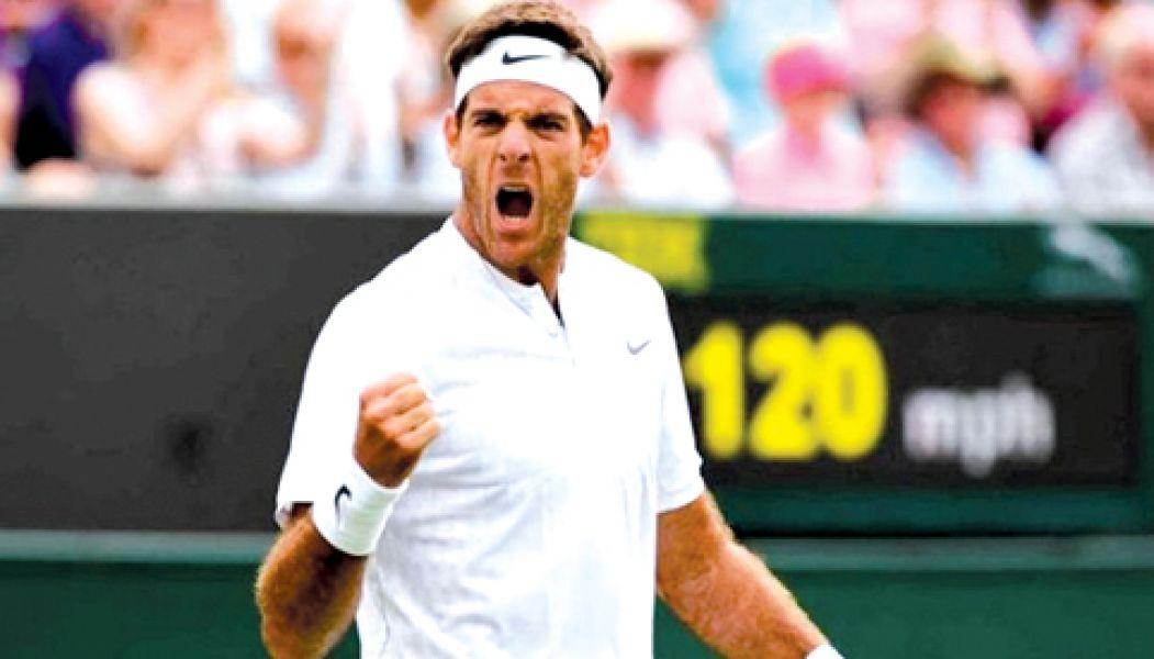 Del Potro venció a Gilles Simon, y hoy enfrentará a Rafael Nadal. Si gana, llegará a ser el número 3 del mundo.