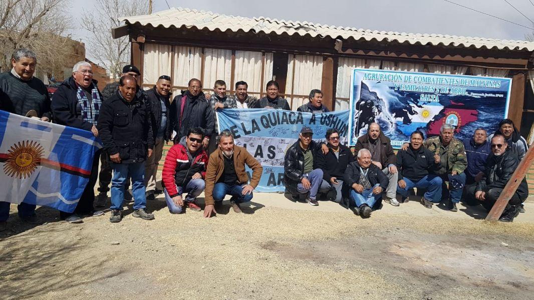 El punto de encuentro de los ex-combatientes fue la ciudad de La Quiaca.