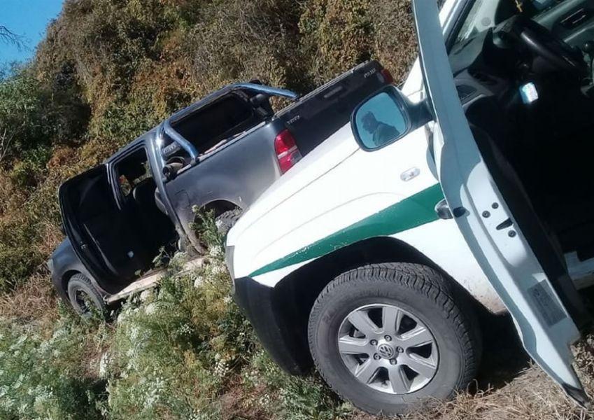 En paneles de una camioneta, en puertas delanteras y traseras, en el asiento trasero y la rueda de auxilio había 68 paquetes de droga.