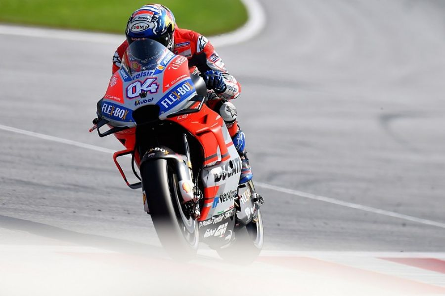 El italiano Dovizioso fue el más rápido en el inicio de la fecha 11º del Moto GP.