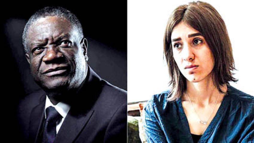 Denis Mukwege y Nadia Murad.