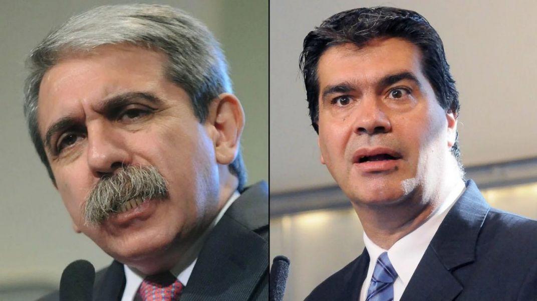 Jorge Capitanich y Aníbal Fernández, ex funcionarios kirchneristas será juzgados por defraudación.