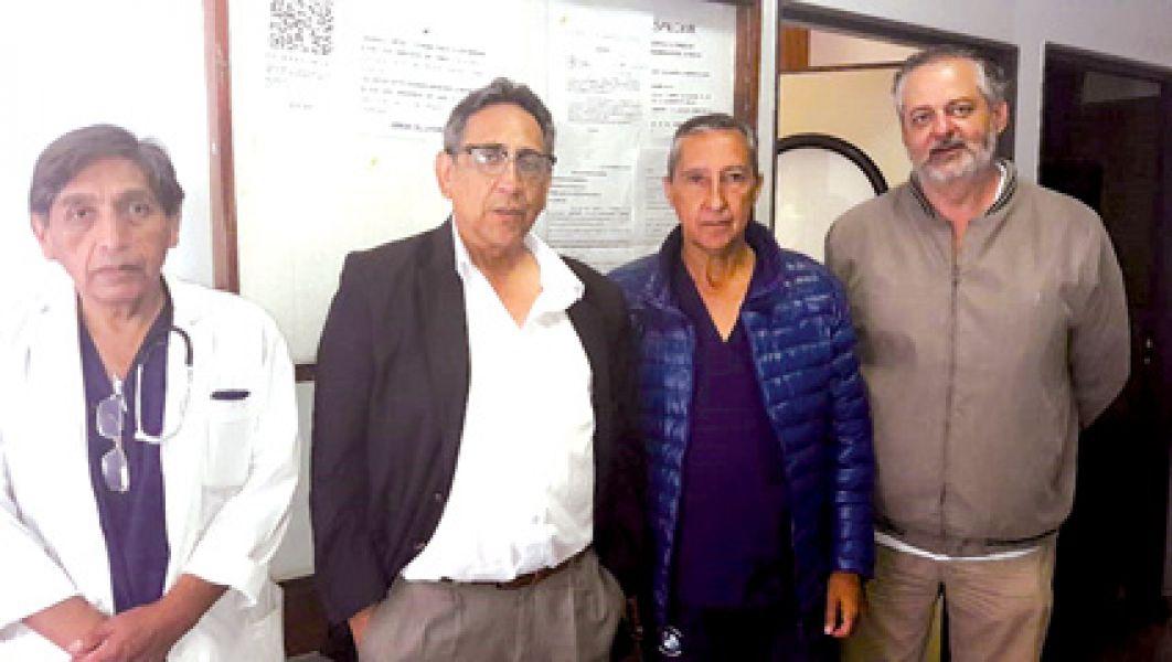 Los médicos de ASPROMIN: Justino Ustarez, Juan Carlos Erazú, Luis Canelada y Horacio Mdalel (de izq a dcha).