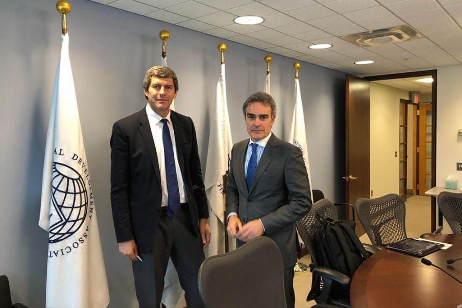 El Jefe de Gabinete de ministros de la Provincia de Salta Fernando Yarade en EE.UU. junto al director ejecutivo del Banco Mundial, Daniel Pierini.