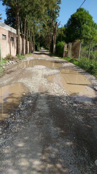Estado de la calle Tres Zorritos de Valle Hermoso o San Luis, que sufre el abandono de la Municipalidad desde hace años.
