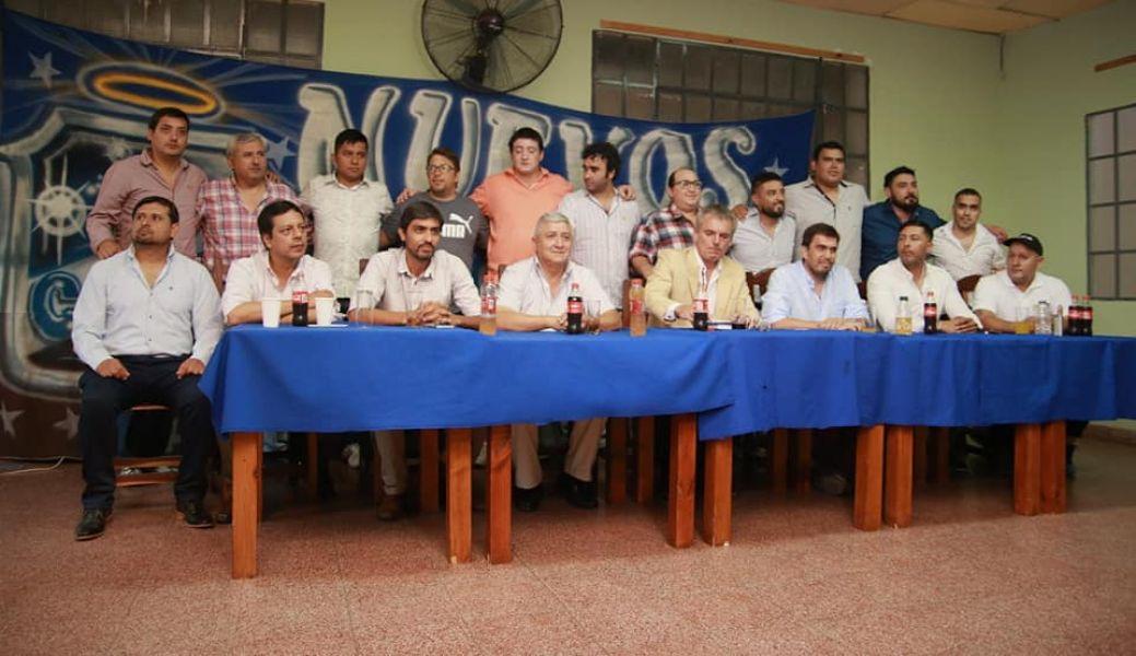 """Los candidatos de la lista """"Renovación Antoniana""""."""