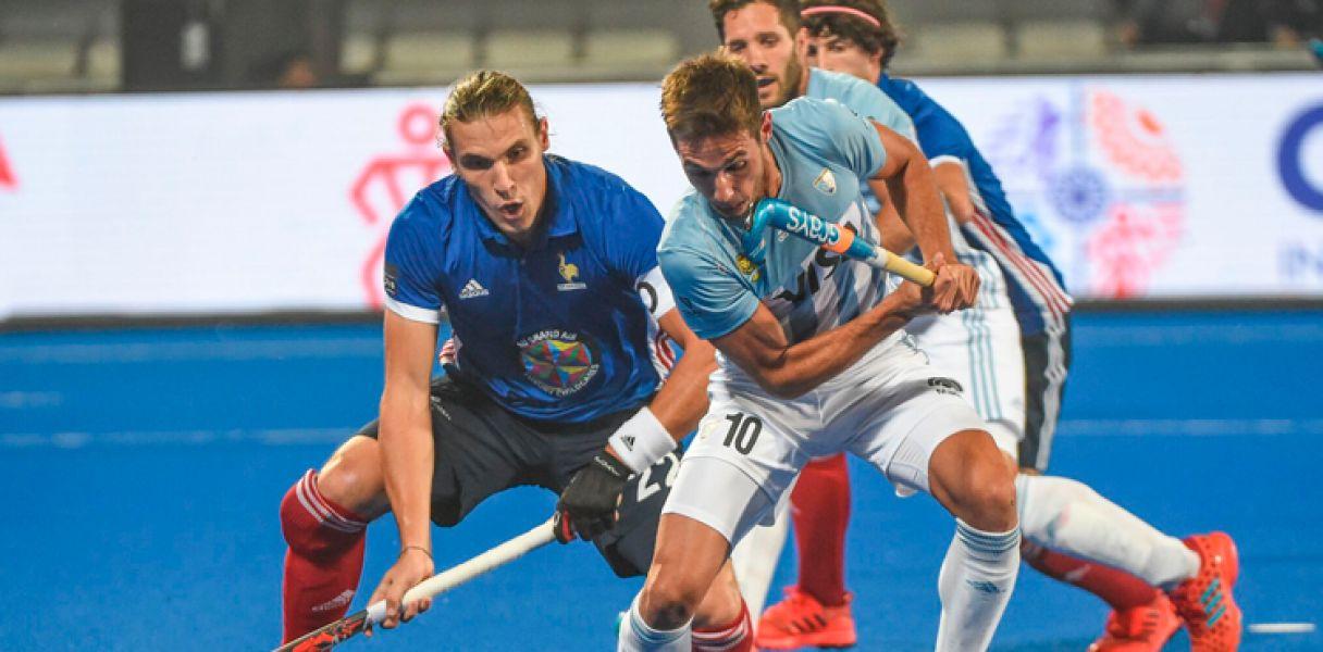 Los Leones cayeron ante Francia, pero igual avanzaron a cuartos e final, en el Mundial de Hockey sobre césped.