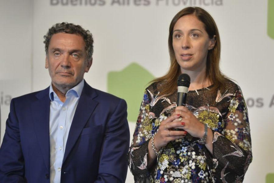 El secretario de Derechos Humanos de la Provincia de Buenos Aires, Santiago Cantón y la gobernadora María Eugenia Vidal.
