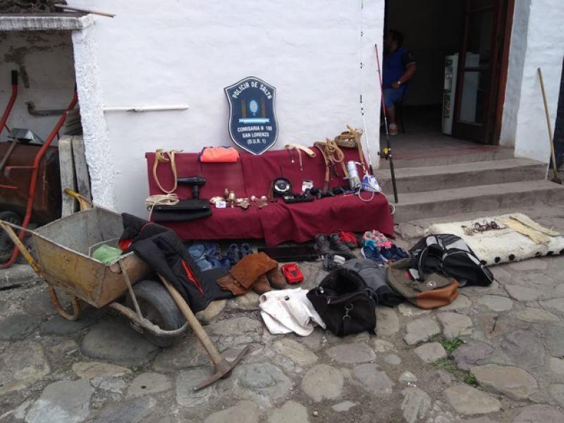 Elementos secuestrados a los delincuentes que operaban en San Lorenzo.