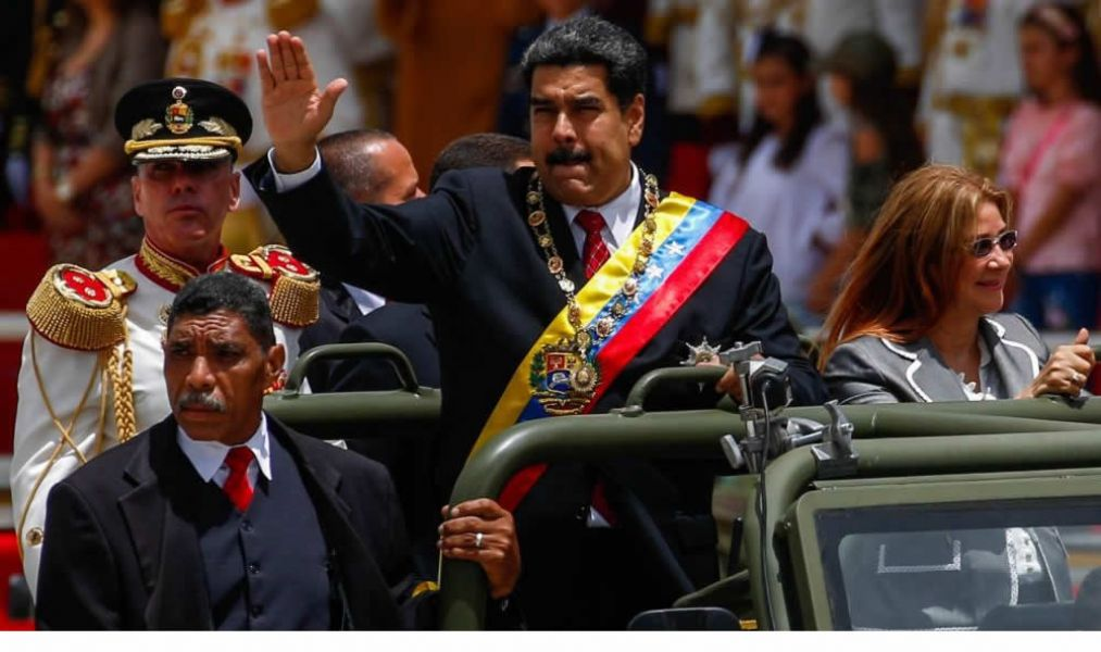 """Nicolas Maduro inicia un nuevo mandato de seis años en Venezuela. Acusó a países de la región de """"ordenar un golpe de Estado""""."""