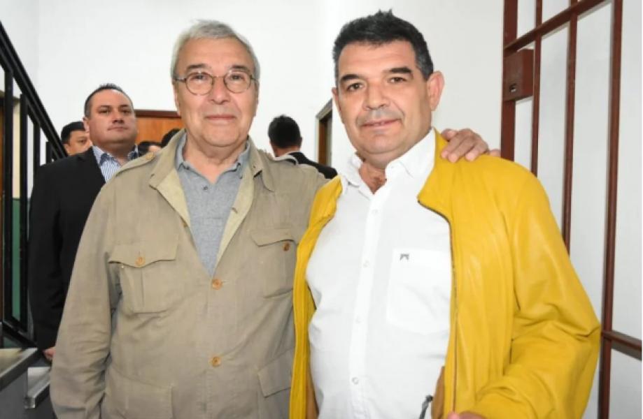 """Olmedo y Juan Bautista Yofré. """"Más que un compañero de fórmula, ustedes están ante el futuro Presidente y vice"""", dijo el salteño."""