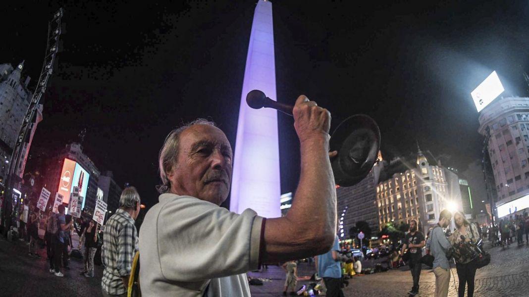 """En Capital Federal, así  como en distintas ciudades, se concretó el """"Ruidazo"""" nacional."""