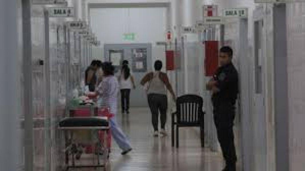 La lesionada fue  atendida en el Hospital San Bernardo.