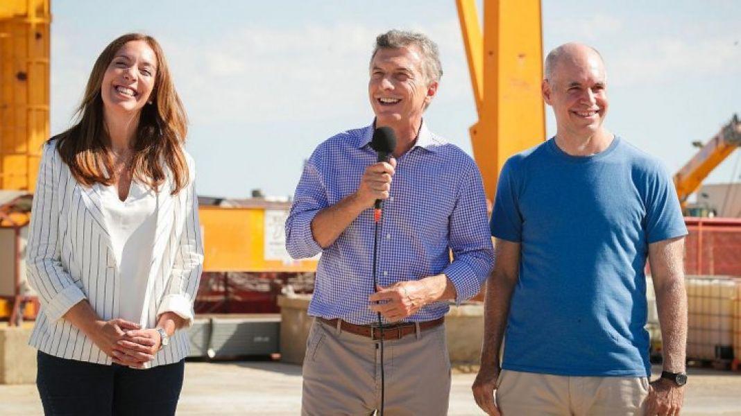 Vidal, Macri y Larreta.
